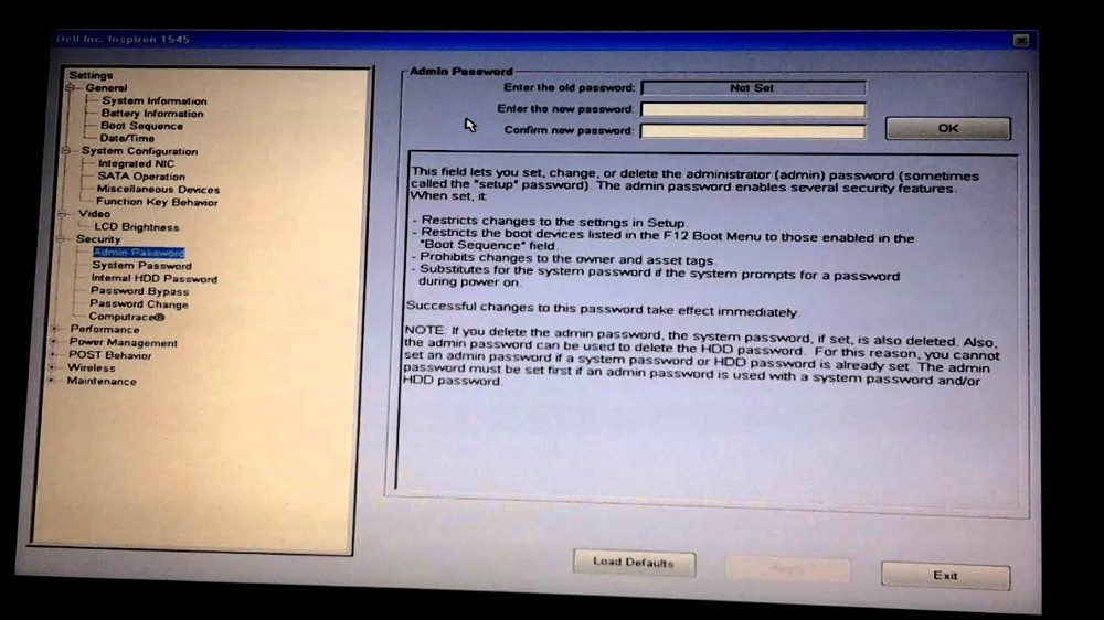 Example BIOS