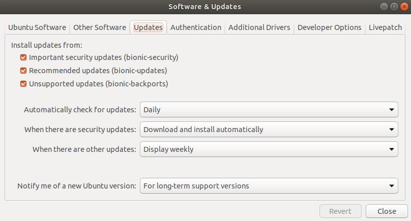 Ubuntu updates